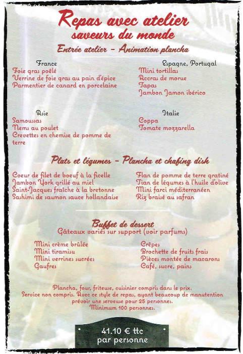 Repas avec atelier saveurs du monde (2)