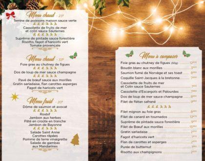 Nos menus de Noël